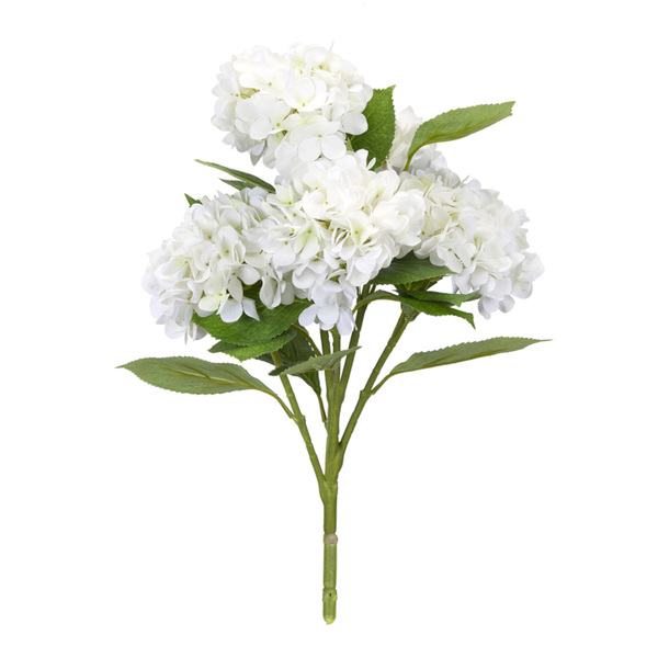 "Hydrangea Bush (Set of 6) 23""H Polyester - White, Green"