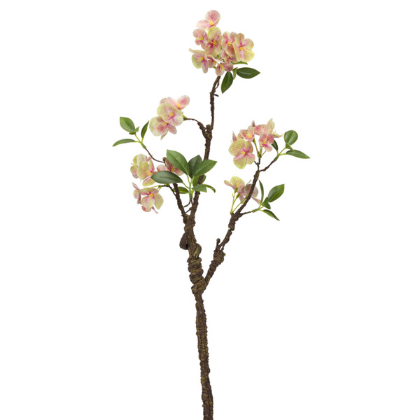 "Blooming Branch (Set of 12) 30""H Polyester - Green, Pink"