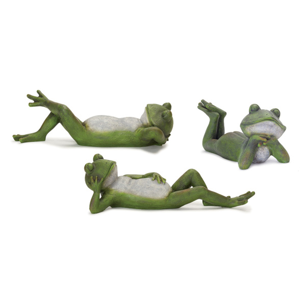 "Frog (Set of 3) 14.75""W x 4.25""H Resin"