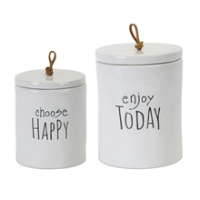 "More about the 'Canister (Set of 2) 5.75""H, 7.25""H Stoneware' product"