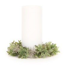 "More about the 'Foliage Candle Ring (Set of 12) 9""D (fits a 6"" candle) Plastic/Twig' product"