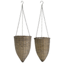 "More about the 'Hanging Basket (Set of 4) 8"" x 32""H, 10"" x 35""H Willow/Metal' product"