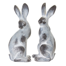 "More about the 'Rabbit (Set of 2) 16.5""H Cement/Resin - Grey, White' product"