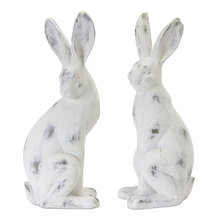 "More about the 'Rabbit (Set of 2) 16.5""H Cement/Resin - White, Brown' product"