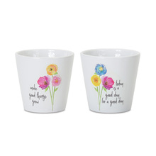 "More about the 'Floral Pot (Set of 6) 4.75""H Dolomite' product"
