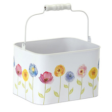 "More about the 'Floral Pail (Set of 4) 7.25"" x 4.75""H Tin' product"