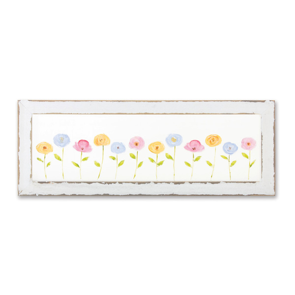 "Floral Frame 24"" x 9""H Screen/Wood"