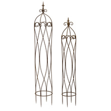 "More about the 'Obelisks (Set of 2) 58.5""H, 67.5""H Metal' product"