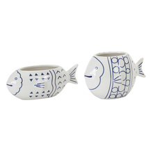 "More about the 'Fish Planter (Set of 2) 8.75"" x 3.25""H, 7.25"" x 4.75""H Ceramic' product"