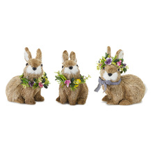 "More about the 'Rabbit (Set of 6) 7.5""H, 7.5""H, 8""H Sisal/Foam' product"