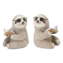 "More about the 'Sloth Reading (Set of 4) 5.5"" x 6.75""H Polyester/Foam' product"