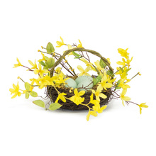 "More about the 'Bird Nest With Forsythia (Set of 4) 12""W x 6.25""H Foam/Plastic' product"
