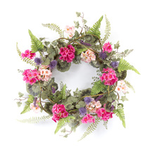 "More about the 'Geranium Wreath 20""D Polyester/Plastic' product"