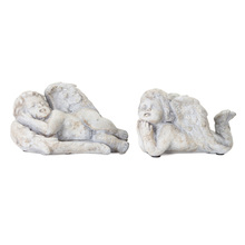 "More about the 'Cherub (Set of 4) 5"" x 3.5""H, 6"" x 3.5""H Cement' product"