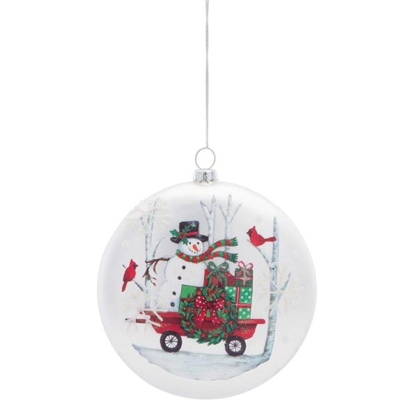 "Disc Ornament 5.75""H (Set of 6) Glass"
