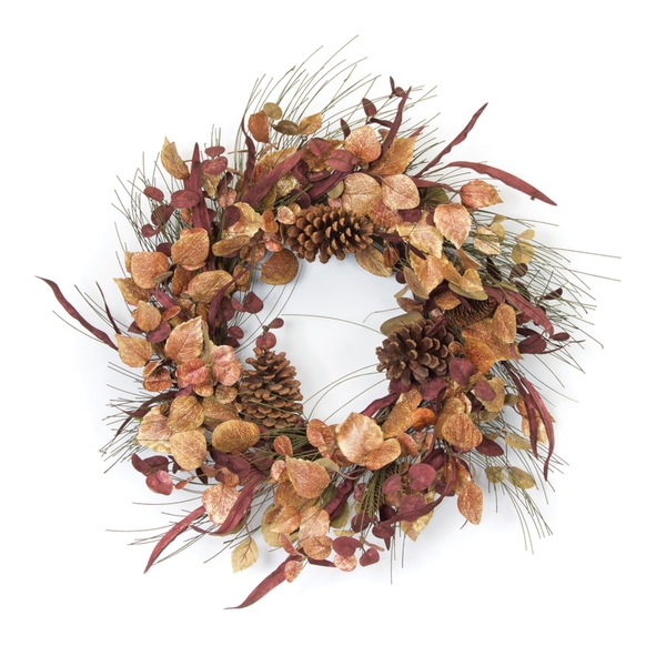 "Leaf and Cone Wreath 23""D Fabric/EVA"
