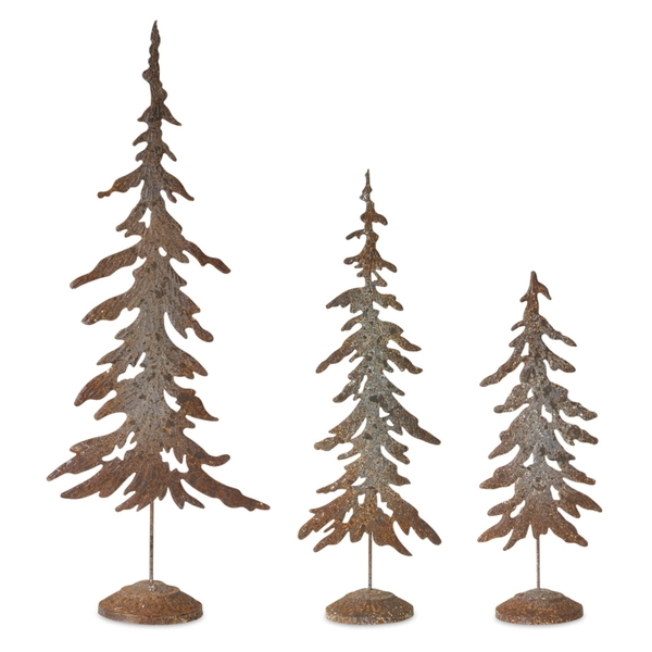 "Tree (Set of 3) 17.5""H, 22.5""H, 29.75""H Metal"
