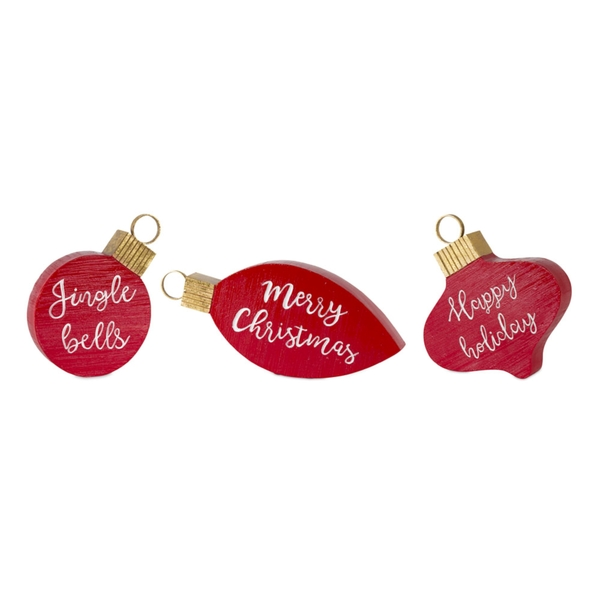 "Ornament Sign (Set of 6) 4.5""H, 6.25""H, 7.25""H Resin"