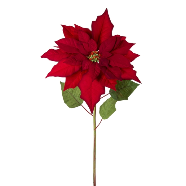 "Poinsettia Stem 31""H (Set of 6) Polyester"