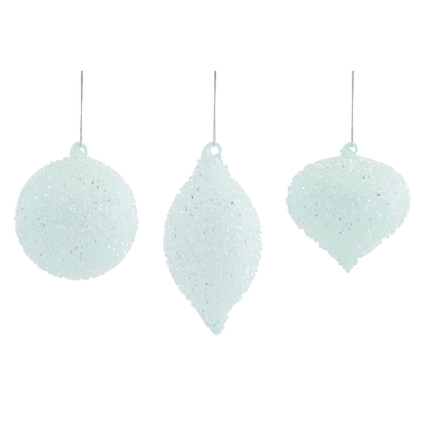 "Ornament (Set of 12) 4.5""H, 4.5""H, 6.5""H Glass"