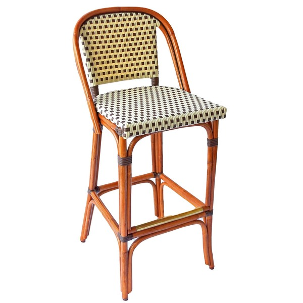 St germain rattan bar stool 30 h seat american country - French bistro barstools ...