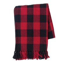 Franklin Red and Black Throw