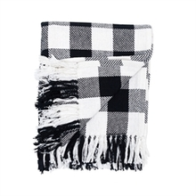 Franklin Black and White Throw
