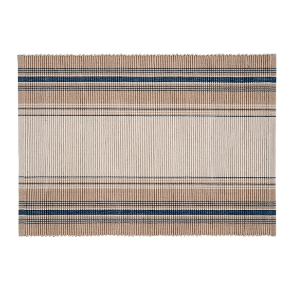 French Blue Stripes Placemat