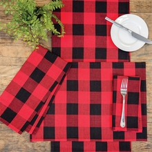 Franklin Black/Red Table Runner