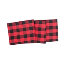 Franklin Black/RedTable Runner