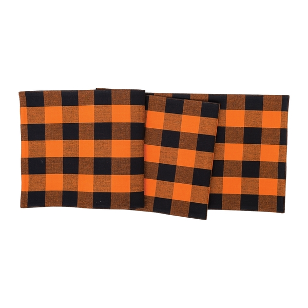 Franklin Black and Orange Table Runner by C&F