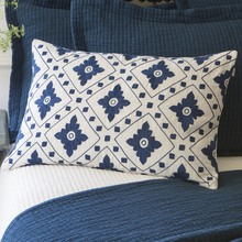 Indigo Embroidered Pillow