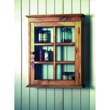 Southern Pine Wall Cabinet W/Glass