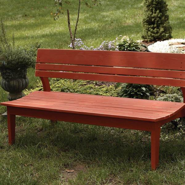 Behren Four Seat Bench W/Back