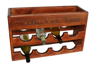 8 Bottle Countertop Wine Rack