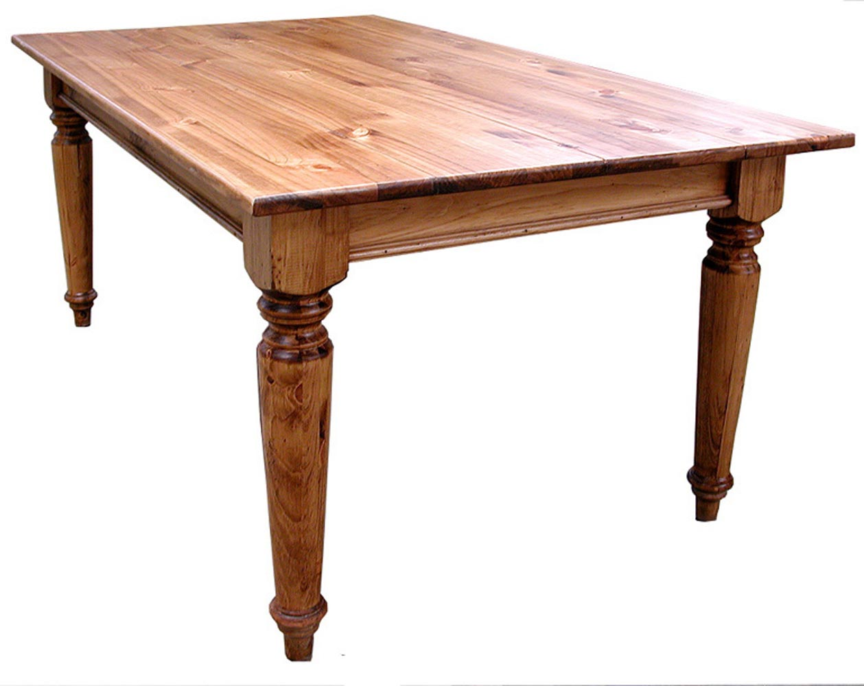 Delicieux Southern Pine 5u0027 Plank Top Farmhouse Table