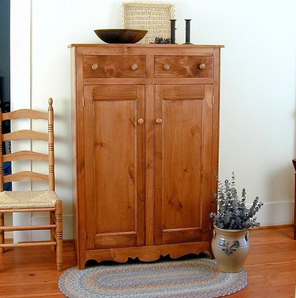 Southern Pine Two Door Jelly Cabinet