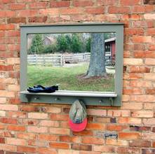 More about the 'Southern Pine Four Peg Mirror w/Shelf' product
