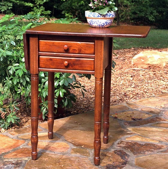Southern Pine Carolina Drop Leaf End Table