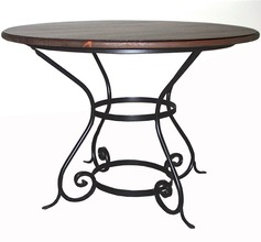 "Southern Pine 42"" Round Table w/Iron Base"