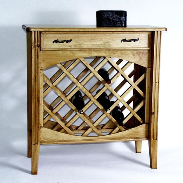 Southern Pine Wine Cabinet