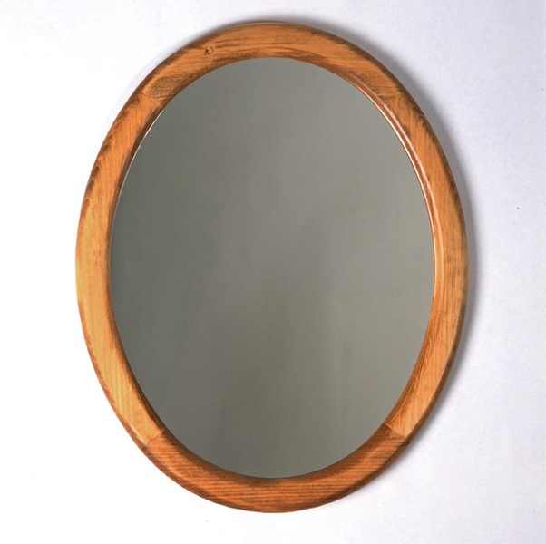 Southern Pine Oval Mirror