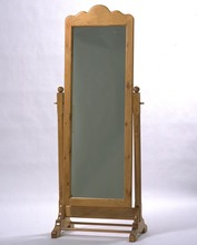 Southern Pine Floor Mirror  on Stand