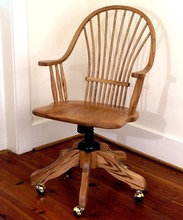 Southern Pine Wheat Back Arm Chair w/Swivel Base