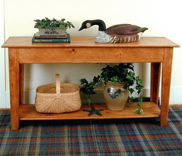 Southern Pine Cumberland Console Table w/shelf
