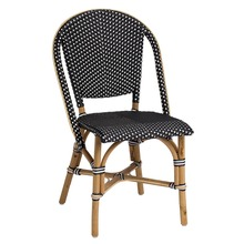Sofie Side Chair by Sika Black with White Dots