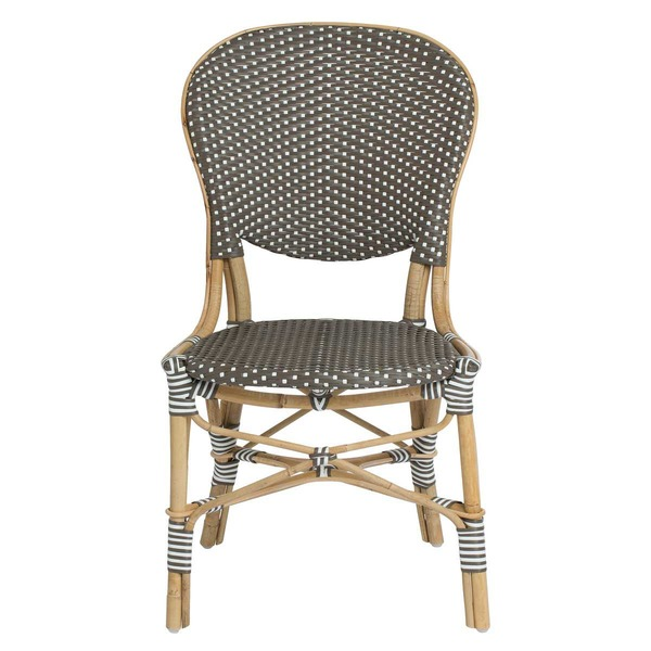 Isabell Side Chair by Sika Cappuccino with White Dots - front