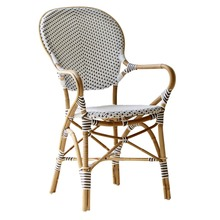 More about the 'Isabell Arm Chair by Sika White with Cappuccino Dots' product