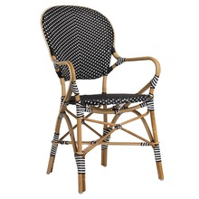 Isabell Arm Chair, Black with White Dots