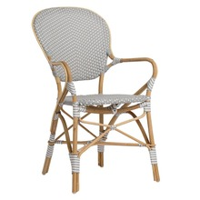 Isabell Arm Chair by Sika Grey with White Dots